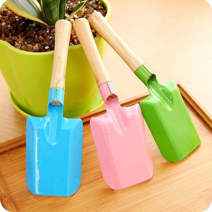 Mini Gardening Shovel Colorful Metal Small Garden Hardware Tools Digging Kids Spade Tool ZWL256