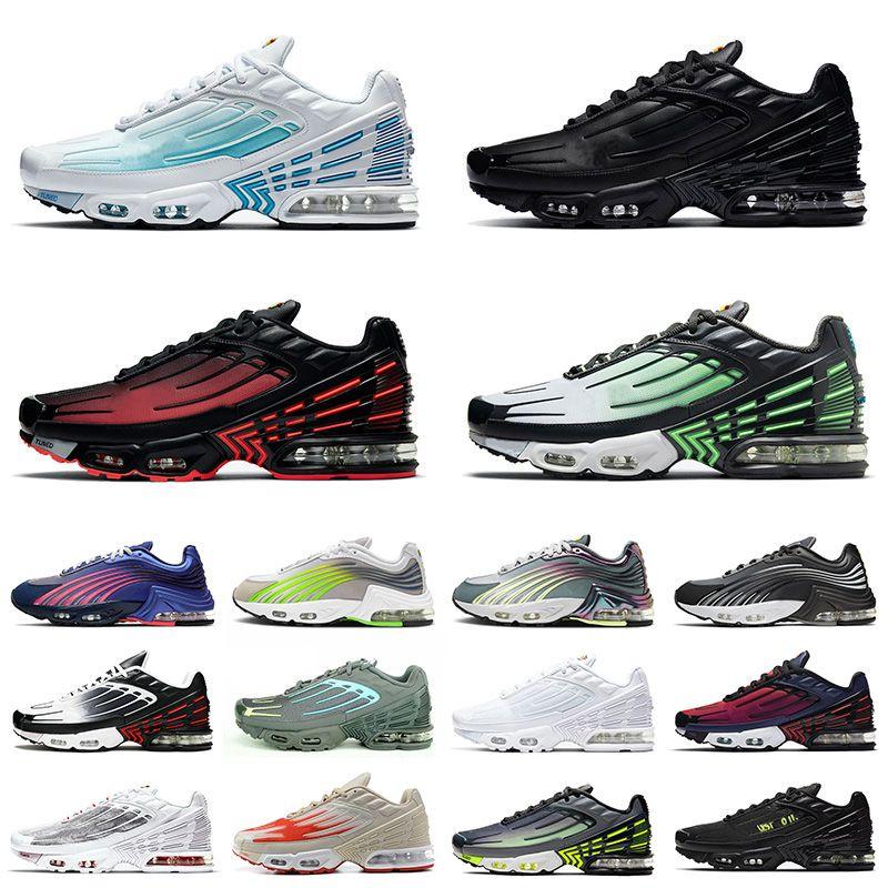 2021 Yeni Nike Air Max Tn Plus 3 Airmax Tns 2 Ayarlı Artı Erkekler Kadınlar Üçlü Siyah Tüm Beyaz Artı Tn Crimson Kırmızı hava Koşu Ayakkabı Eğitmenler Sneakers