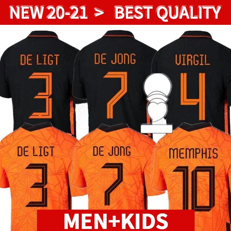 Memphis 2021 Niederlande Soccer Hemd Spieler Version de Jong Holland de Ligt Strootman van Dijk Virgil 2022 Fußball Jersey Erwachsene Männer + Kinder k