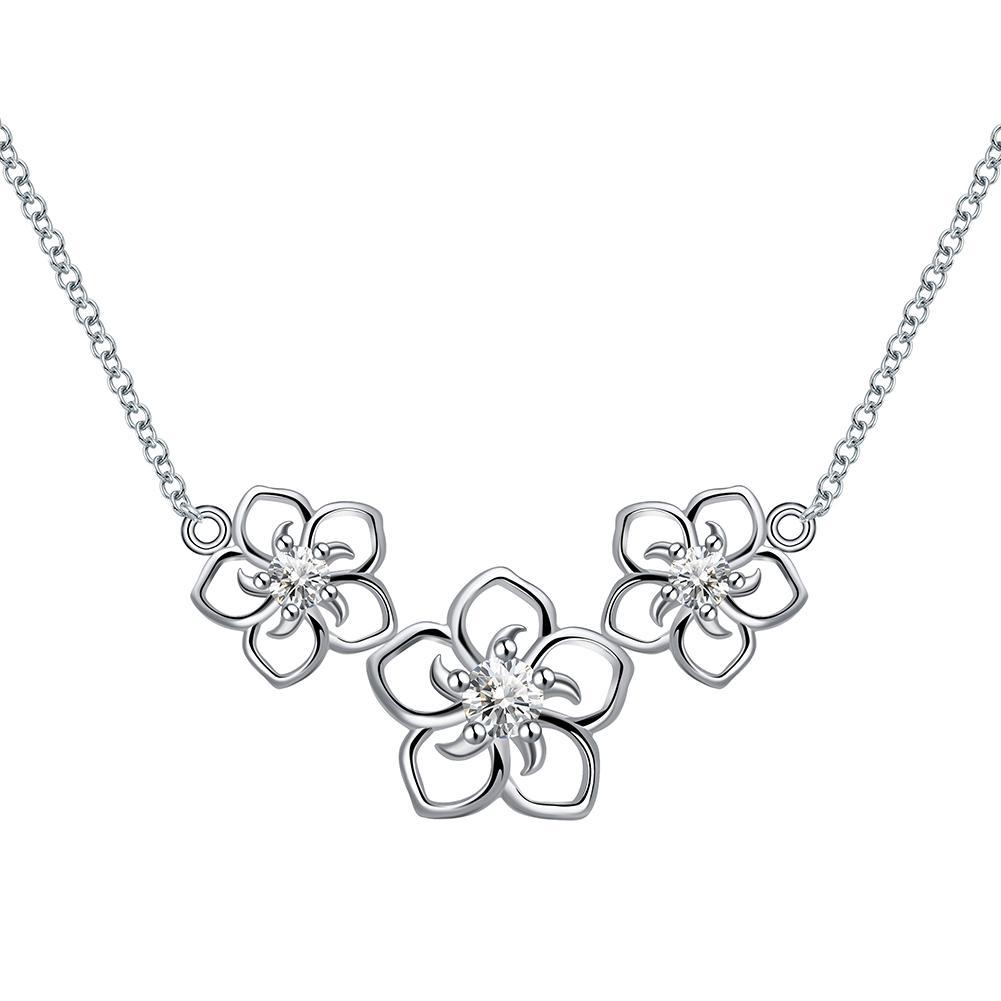 Orsa collares mujeres reales con joyas de plata Zircon Cubic 4 joyas ahuecadas 100% esterlinas de primera categoría para flores PCS SN96 Guhem