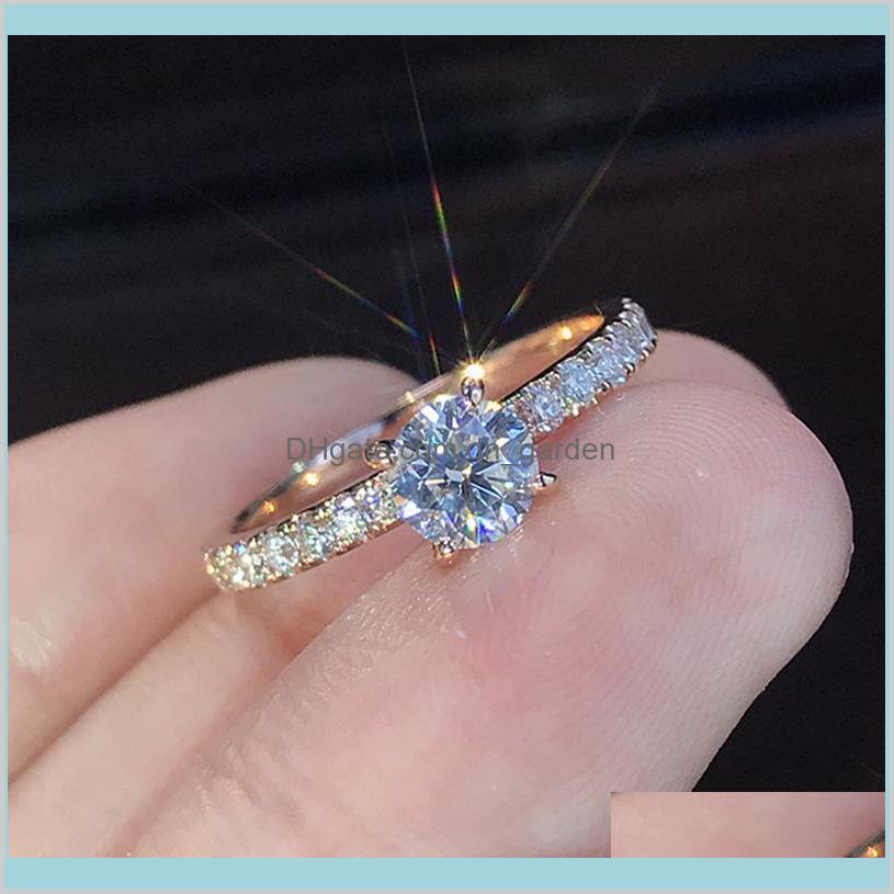 Luxus-Diamant-Ring CZ S925 KILIERTIERTES VERLETZT EUMAINT-Ringe für Frauen Männer Modeschmuck FBPJS mit seitlichen Steinen ISPUZ