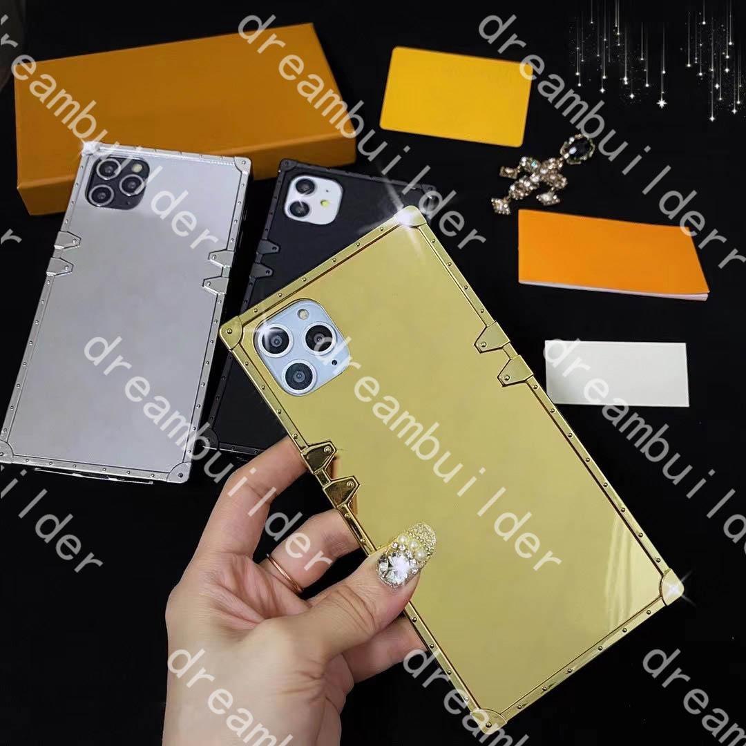 Moda iPhone 12 Pro Max Cases Mini 11 11Pro 11Promax X XS XR XSMAX 7P 8P 7 8 Plus PU Protection Case Designer Cover con scatola