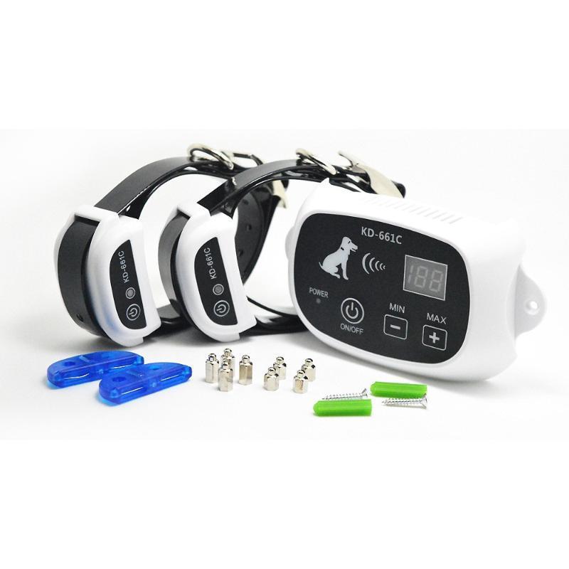 Cerca elétrica do cão do cão de estimação da segurança com colar de treinamento eletrônico impermeável PENS do sistema de contenção enterrado