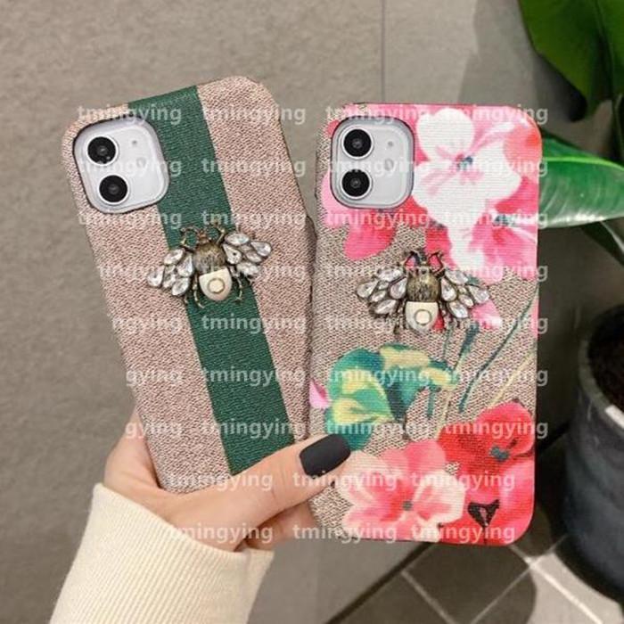 Designer di lusso Custodie telefoniche per iPhone 12 Mini 11 Pro Max XS XR x 7/8 Plus Samsung S20 S21 Nota 20 Moda stampa Ape Custodia per cellulare