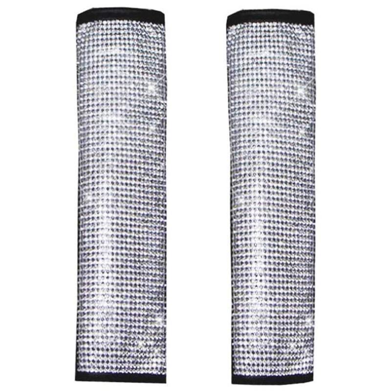 Cintura del sedile del rhinestone della tracolla della spalla della custodia lucida della copertura dell'automobile della decorazione dell'unità della decorazione degli accessori di sicurezza
