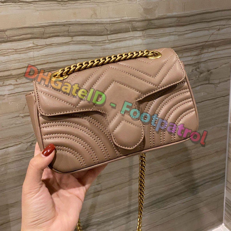 2021 Kadınlar Klasik Vintage Moda Messenger Çanta Yüksek dereceli Zincirler Omuz Çantası Crossbody Çanta Luxurys Tasarımcılar Bayanlar Para Debriyaj Çanta Flap Cüzdan