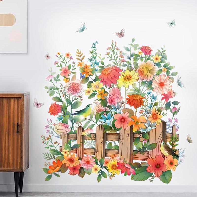 Duvar Çıkartmaları Çiçek Çıkarılabilir Sanat PVC Ev Dekor Için Oturma Odası Yatak Odası Dekorasyon Aksesuarları Duvar Resimleri