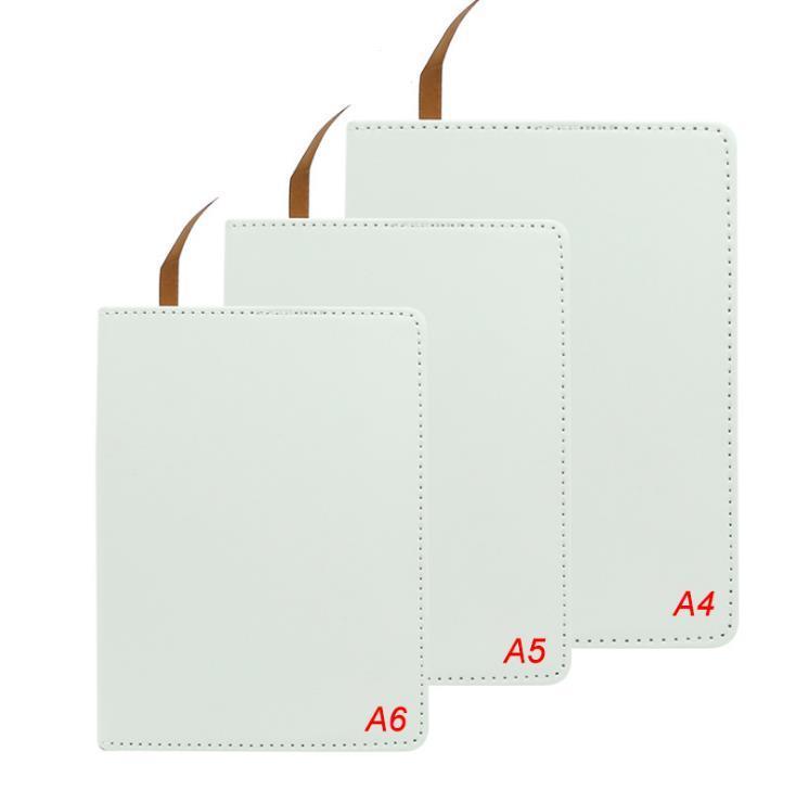 المفكرة a6 المجلات التسامي مع شريط مزدوج الشريط الحرارية نقل دفتر diy الأبيض الفراغات فو الجلود مجلة SN2156