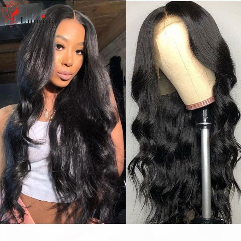 Lace Frontal Wigs Body Wave Wig 180 density 10-30 Inch Black Wavy Lace Front Human Hair Wigs Brazilian Hair Beauty Lumina