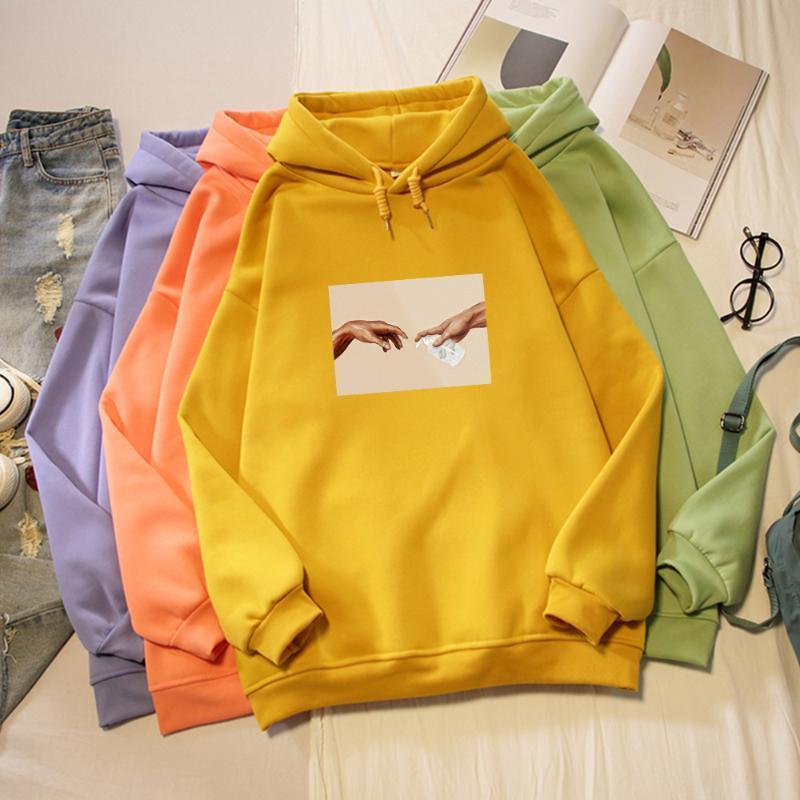Loose Long Sleeve Sweatshirt Ladies Casual Streetwear Plus Size 90's Aesthetic Hoddies for Teen Girls Oversize Woman Hoodies