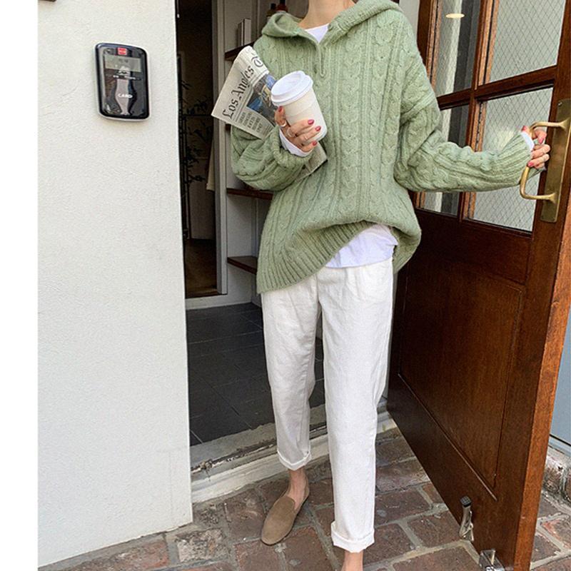 Женский свитер Женщины зимний пуловер вязание перекидки с длинным рукавом девушки топы свободные свитера вязаные верхняя одежда тонкие сексуальные женщины