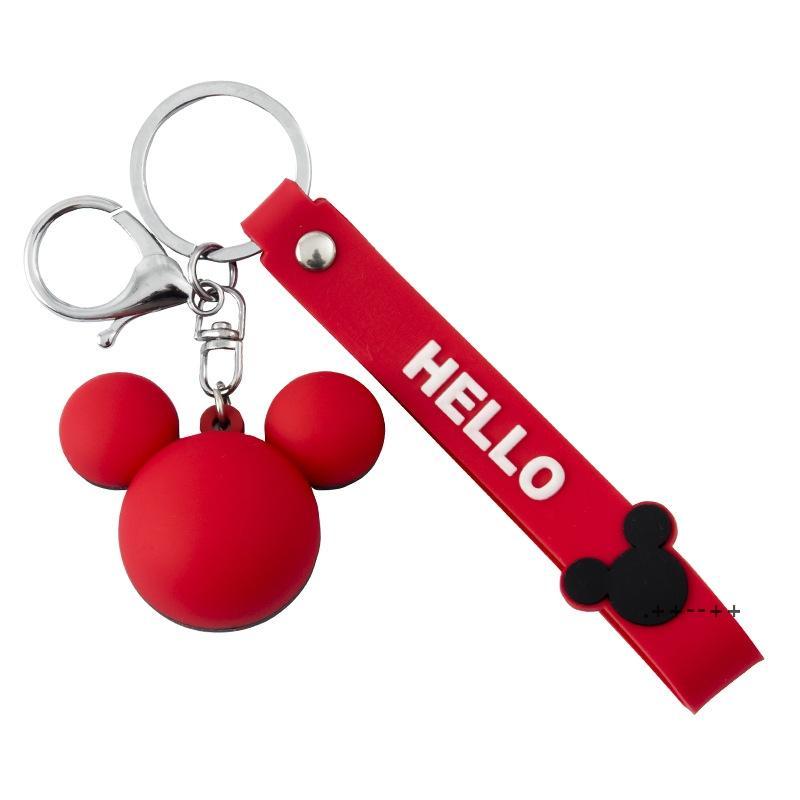 Дизайн мыши Ключ Цепные кольца держатель моды милые животные брелок подарки мультфильм сумочка подвеска женская сумка подвески ювелирные изделия EWA8542