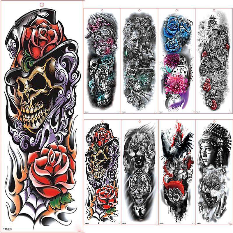 Sticker Tatouage temporaire imperméable à manches grand bras Shantou Rose Rose Tatoo Tatoo Tatoo Tatoo Fille de tatouage
