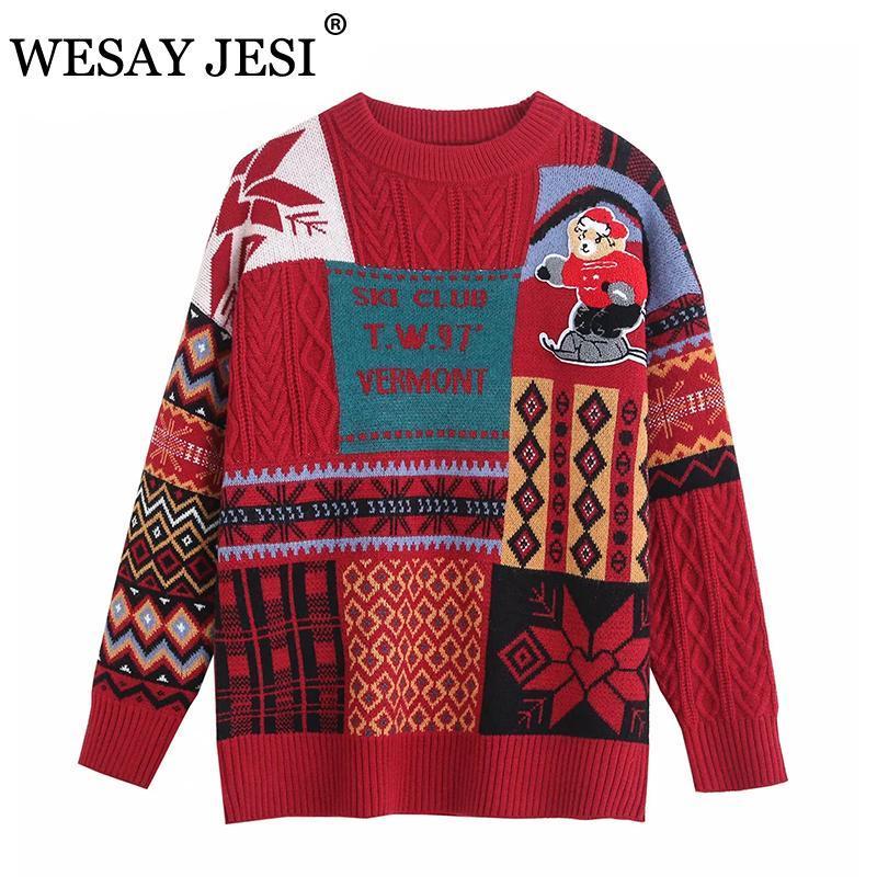Jumper Coreano sciolto maglione lavorato a maglia Plus Size Abbigliamento O-Neck Manica Lunga Oversize Top Couples Pullover Casual Pullover Maglioni da donna
