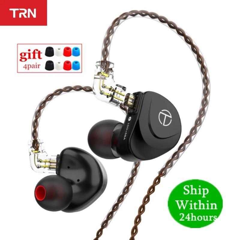 V90SS 5BA + 1DD hybride hybride dans l'oreille Écouteur HIFI Moniteur de moniteur en métal Sport en cours d'exécution avec 2pin détachable TRN VX BA8 V90 Casques Écouteurs