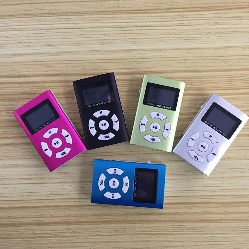 Portátil MP3 Player Mini LCD Tela Impermeável Música Música Memória Cartão de Desporto Lettore MP4