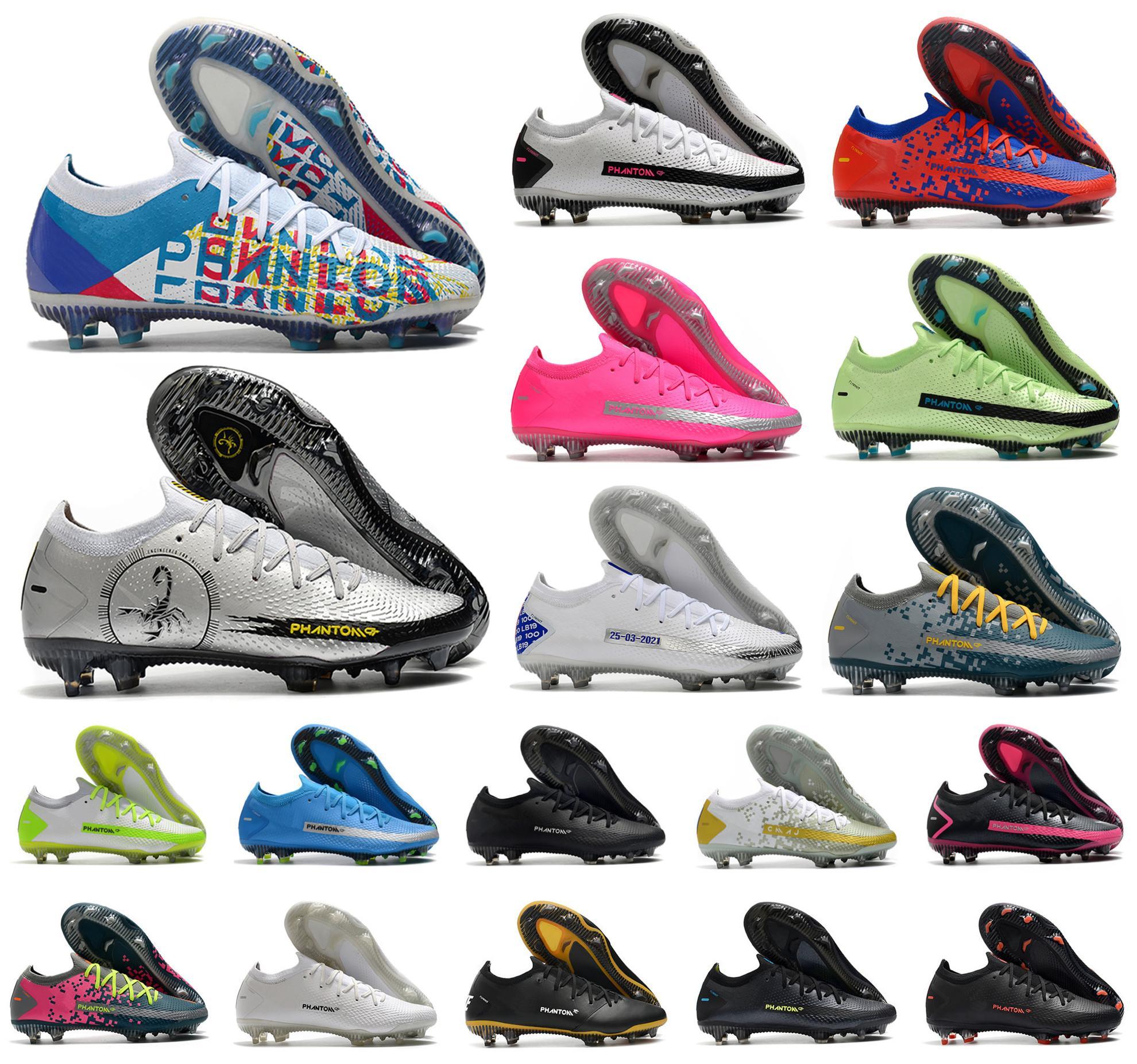2021 أحذية رجالي كرة قدم فانتوم جي تي النخبة 3d fg بنين كرة القدم الأحذية المرابط حجم 39-45
