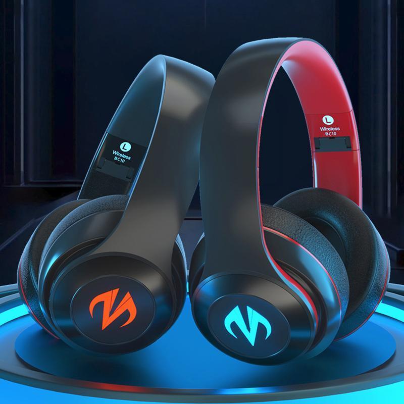 Auriculares para el juego Montado en la cabeza 7.1 Resumen Inalámbrico Bluetooth Auriculares estéreo Auriculares Cancelación de ruido con micrófono para auriculares PS4 / XBOX