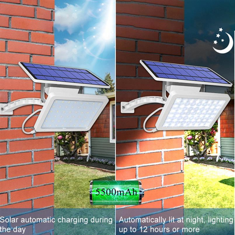 800lm Solar Garden Lamp SMD2835 48leds IP65 Integrate Split Street Lamps Adjustable Angle Outdoor Wall Light