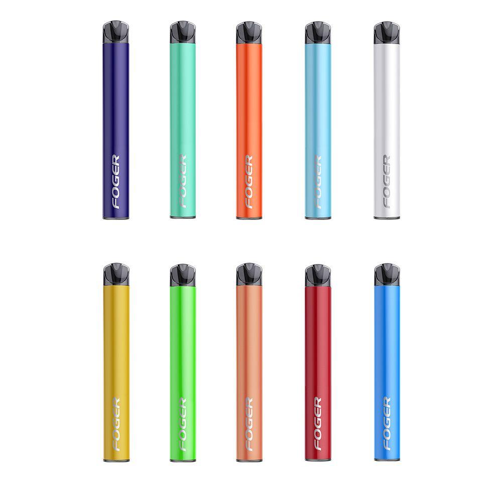 US Stock Foger Mini Disposable 1000 Puffs cigarette 650mAh Battery 4ml Cartridge Prefilled Vape Pen Pod Kit 10 Choice