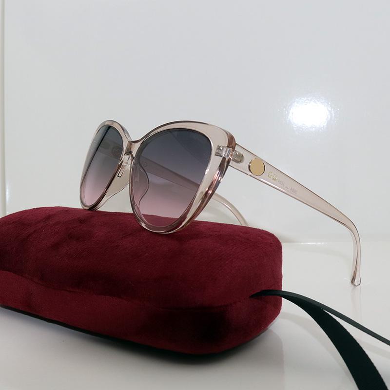 Womens Mode Sonnenbrille Katze Augen Sonnenbrille Rosa Frauen Brillen Retro Brillen Designer Occhiali da Sole Marke Frau Sonnenbrille 3684
