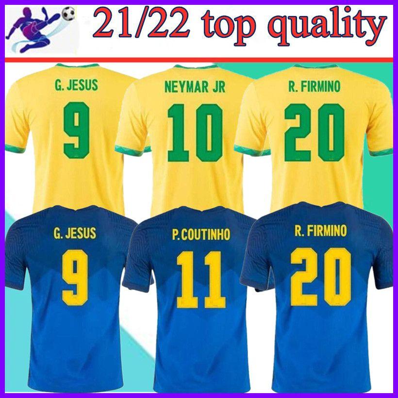 2021 Camiseta de Futbol Paqueta Neres Cuatinho Бразилия Футбольная рубашка фирмпина Иисус Футбол Джерси Марсело Пеле Бразил 20 21 Maillot de op