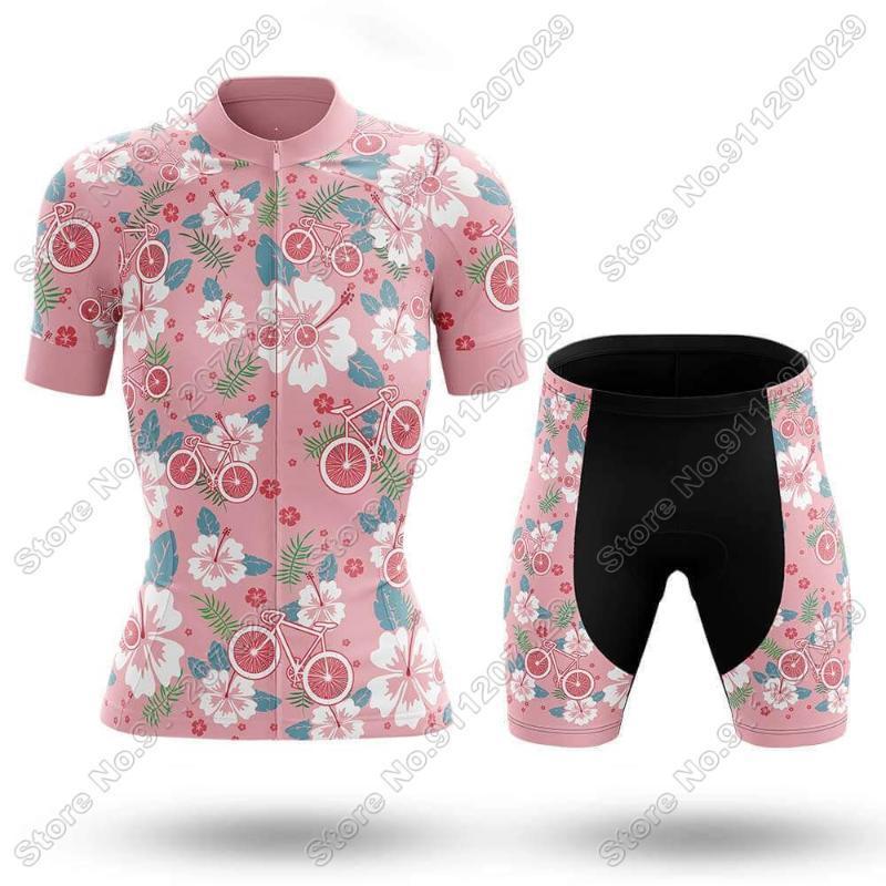 Гоночные наборы 2021 Женщины Aloha Велоспорт Джерси Набор Летняя Одежда Дорожный Велосипед Костюм Горный Велосипед Рубашка Нагрудник Шорты МТБ Вершины Maillot
