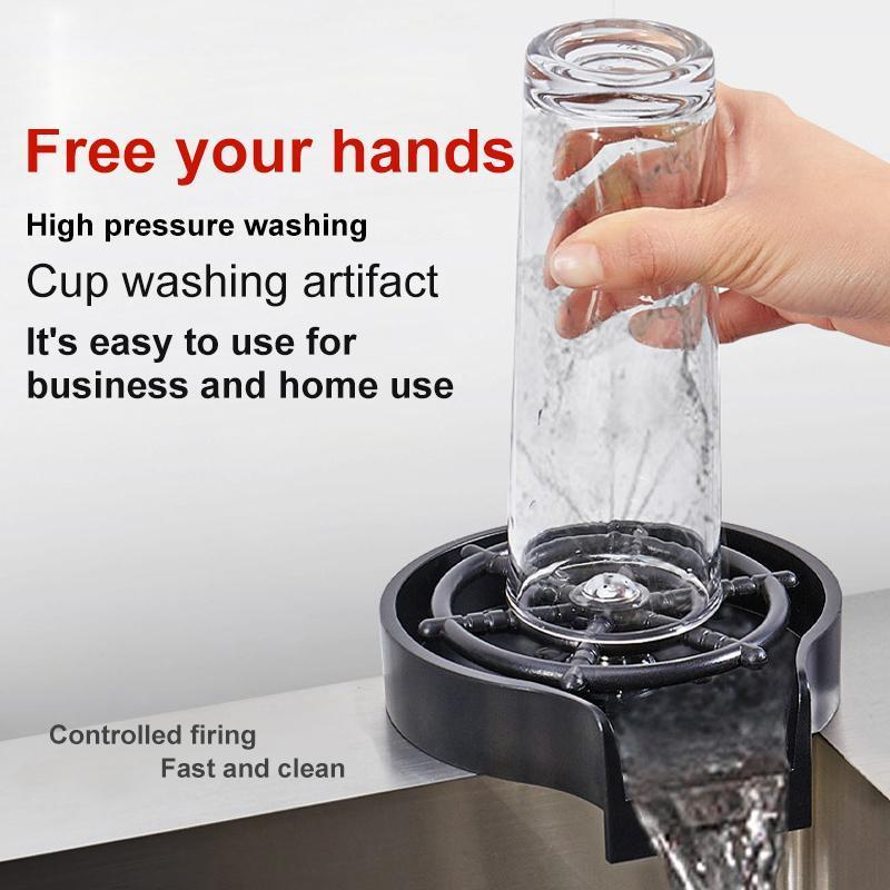 Robinet de cuisine Tasse automatique Robineuse à robinet à rondelle de robinette pour évier Bar Pichet de café Pichets de lavage Tousses Outils Accessoires Pulvérisateur