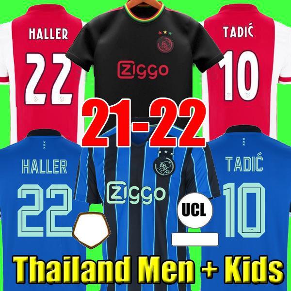 Haller 20 21 22 3-й черный Amsterdam футбол футбол 2021 Tadic Klaassen Traore Promes Neres Cruyff Men Kids Kit Футбольная рубашка Униформа 50