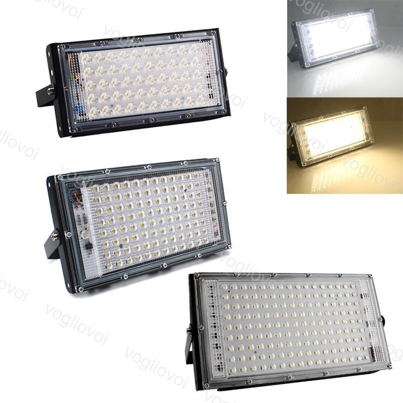الأضواء الكاشفة 50W 100W 200W 110 فولت 220 فولت 3000 كيلو 6500K IP65 ماء الكمبيوتر + الألومنيوم الإضاءة في الهواء الطلق للهندسة البناء ITInterior الديكور EUB