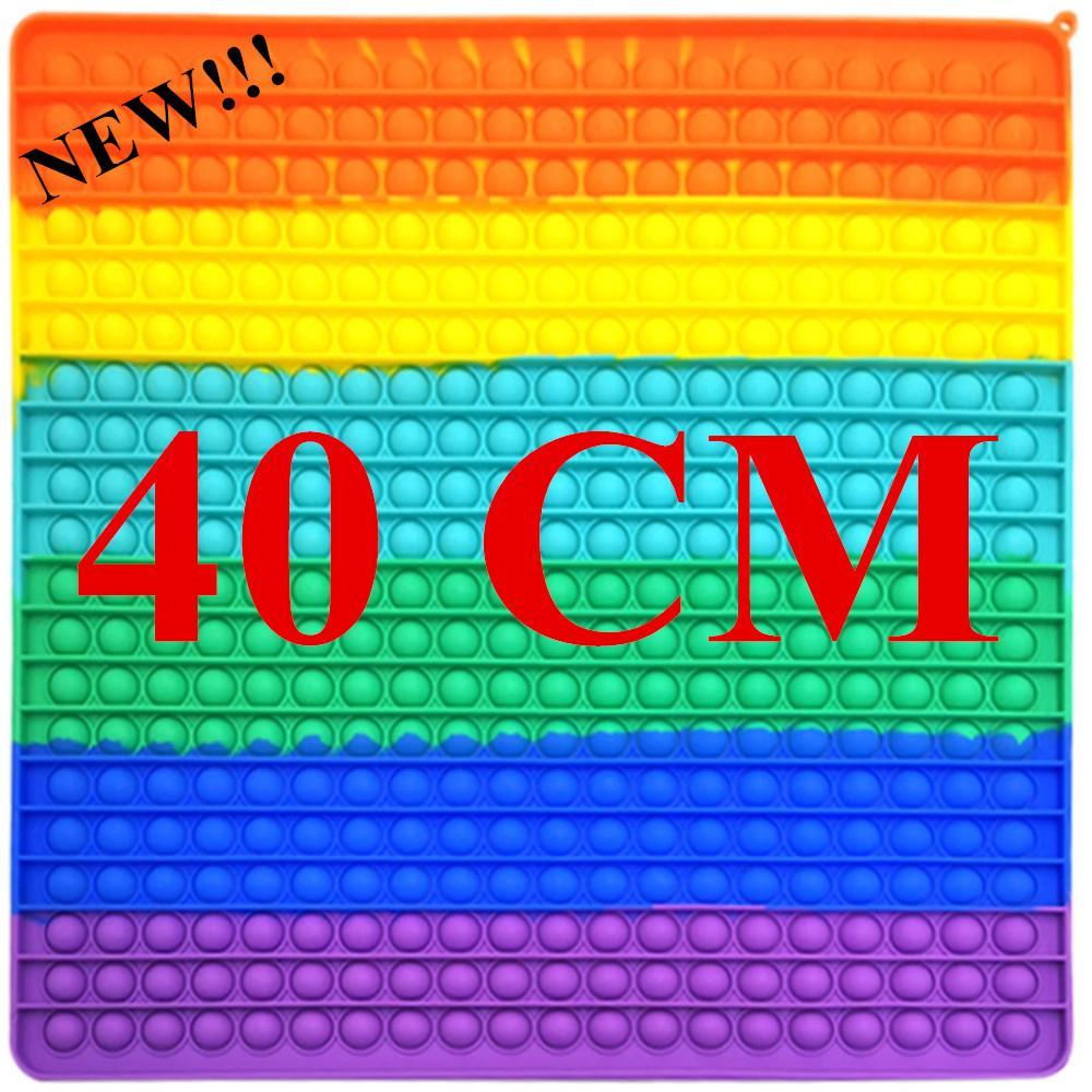 40 cm Super Size Fidget Giocattoli Rainbow Anti Stress Bolle Push Fidget Sensory Toy Stress Stress Reliever Giochi da tavolo Giochi riutilizzabili Spremere Giocattoli Regalo di compleanno