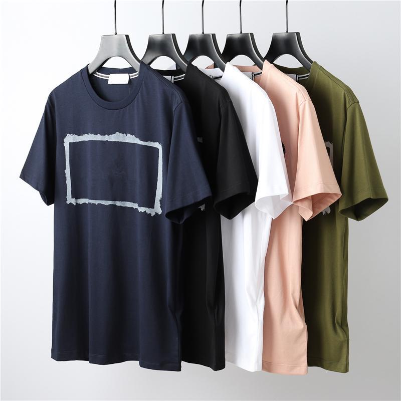 CP Chinacpcompany летние хлопковые любовники футболки высокое качество случайные свободные мужчины с короткими рукавами европейские и американские моды круглые шеи верхние печатные буквы