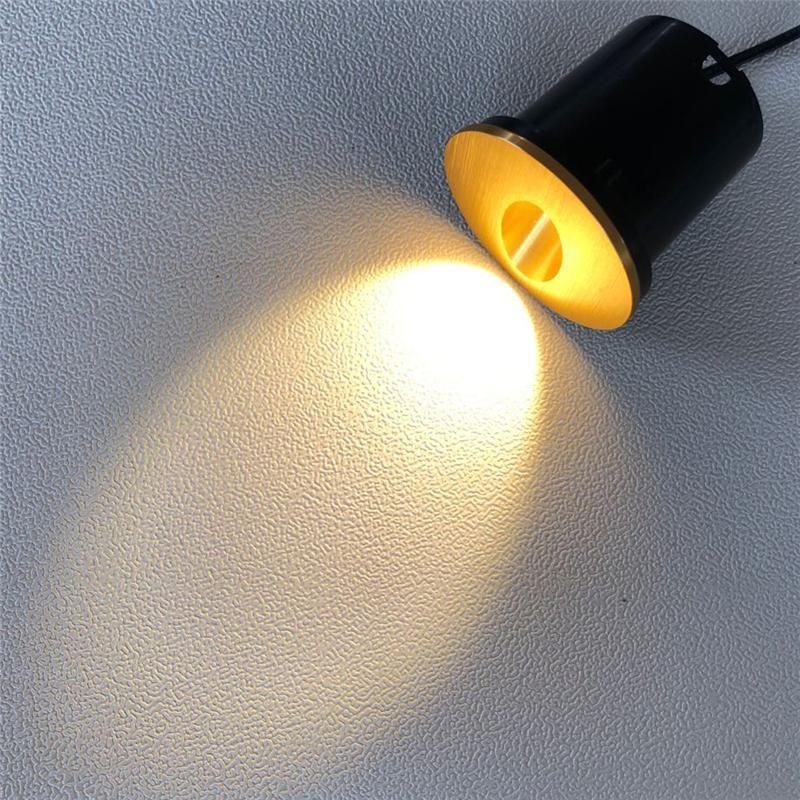 실내 3W LED 발언 임베디드 설치 조명 장치 통로 계단 밤 조명 라운드 벽 램프