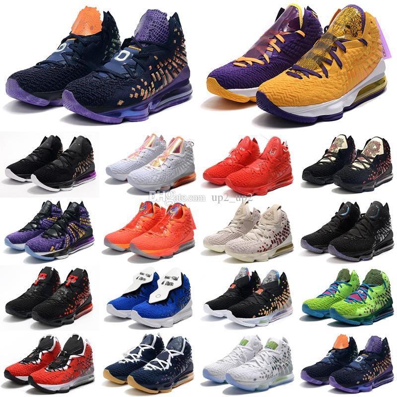 Erkek Ayakkabı 17 S Bron XVII 17 Ton Squad Lakers Crenshow erkek Açık Ayakkabı Eğitmenleri Spor Sneakers 40-46