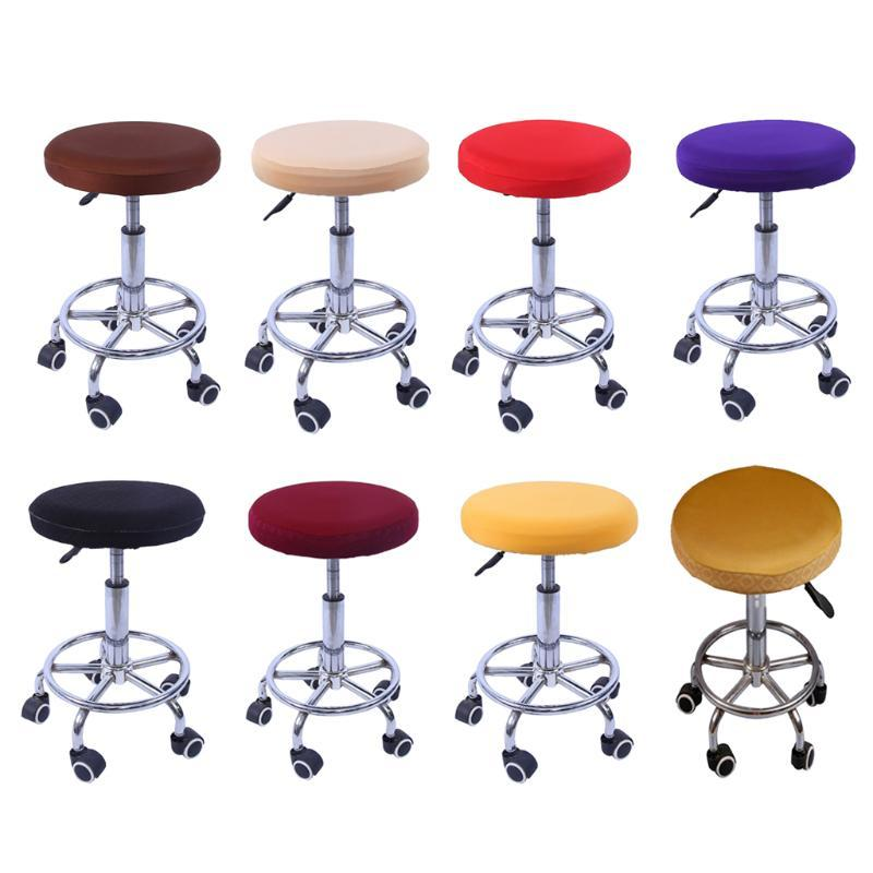 Cubiertas de silla Taburete de barras Girar Redondo Reemplazo de asiento extraíble Cojín de cojines Sedia Sedia