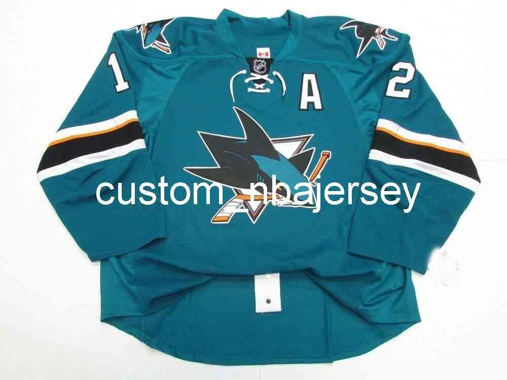 Ricamo Marleau San Jose Sharks Home Team Emesso Jersey Uomo personalizzato Hockey Jersey Aggiungi qualsiasi Nome Numero