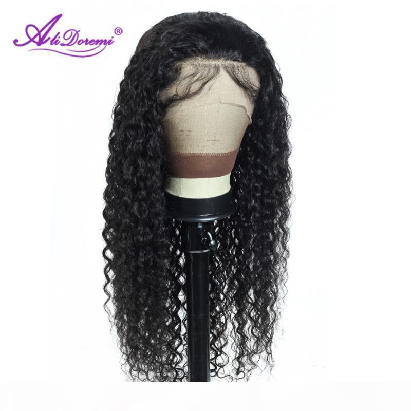 Peruvian Water Wave Human Hair Wig Lace Front Human Hair Wig With Baby Pre Plucked Remy 150 Density 13X4