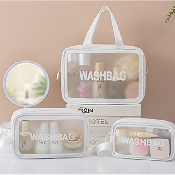 الجملة أكياس التجميل شفافة تخزين السفر البلاستيكية أدوات الزينة حقيبة الأزياء للماء سعة كبيرة المحمولة الجمال ماكياج مزيل المنظم