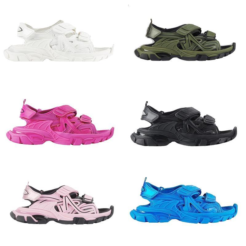 Tasarımcı Sandal Platformu Moda Erkekler Kadın Sandalet Sneakers Terlik Pembe Beyaz Siyah Mavi Slaytlar Plaj Rahat Ayakkabılar Kalın Dipli XX-0038