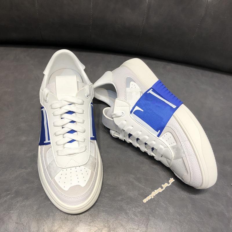 Valentino shoes 2020 Erkekler ve Kadınlar Dana derisi VL7N Sneaker ile Marca, Düz Çivili Sneakers Büyük Boy Dana derisi Eğitmenler 38-44