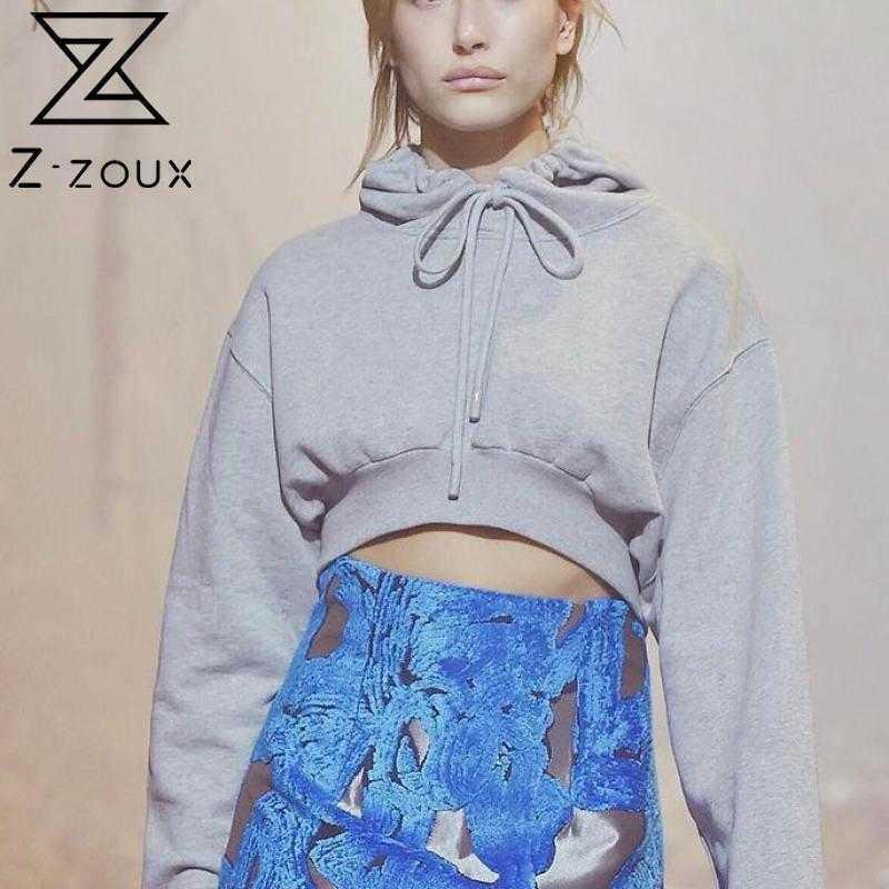 Frauen Hoodies mit Kapuze Kurzer Pullover Sweatshirt Mantel plus Größe Beiläufige sexy Frau Mode 210524