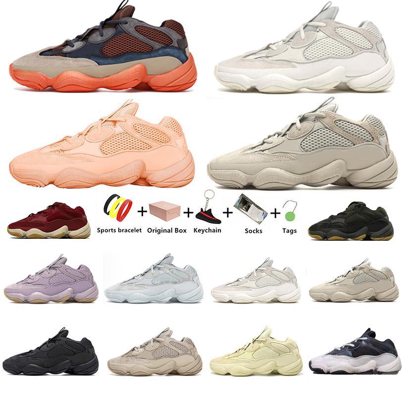Enflame Kanye 500 امرأة رجالي الاحذية Enflam الملح ستون لينة الرؤية تاوب ضوء فائدة سوداء القمر الأصفر الأبيض استحى الرجال الركض الرياضة أحذية رياضية