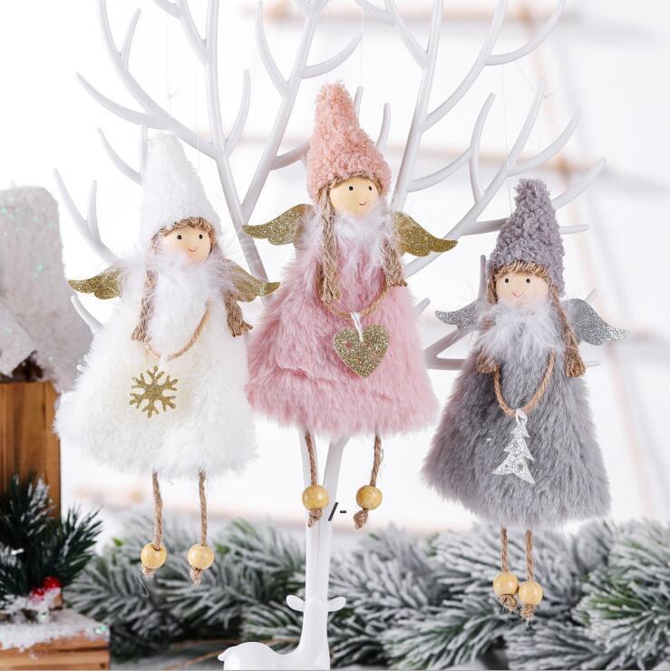 Newhot جديد الحب الملاك زينة عيد الميلاد الإبداعية شجرة عيد الميلاد المعلقات الأطفال هدايا المنزل الديكور RRF8342