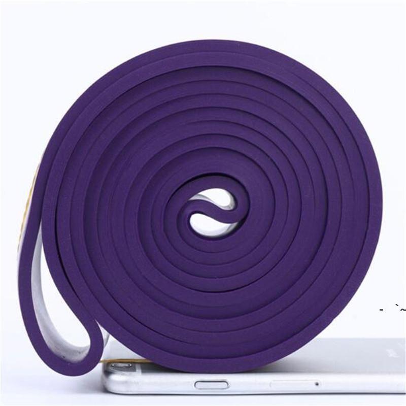 208 cm Red Gym Gym Resistenza Bands Yoga Loop Elastico Crossfit Pilates Fitness Expanander Pull Corda Forza Unisex esercizio OWC7279