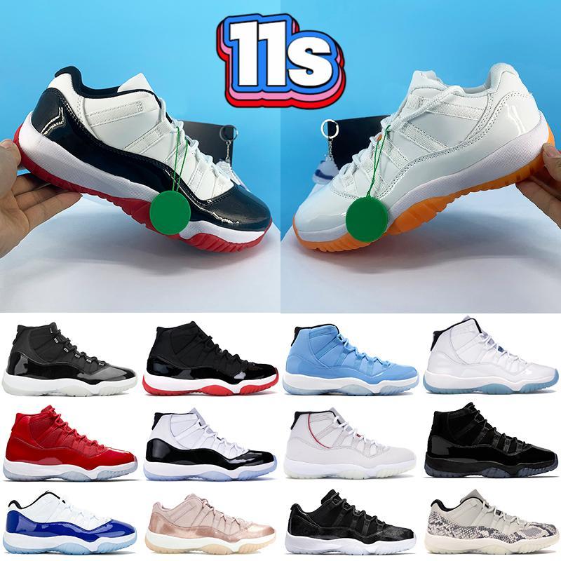 High 11 Low legend University blue 11s hombres Zapatillas de baloncesto 25th Anniversary white bred concord 45 pantone mujer Zapatillas de deporte para hombre