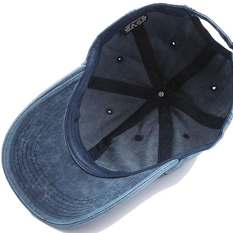 Fashion Korean Men's Baseball Cap Washed Optional Pure Color Bone Stitching Hip Hop Sun hat