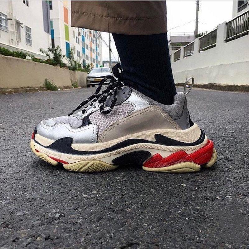 2021 Triple Men Donne Designer Casual Dad Scarpe Vintage Piattaforma Sneakers Nero Parigi 17FW Lussurie Tennis Flat Trainer Jogging Scatola di scarpe da jogging taglia 36-45