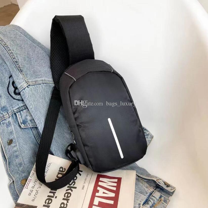 الرجال حقيبة يد ماء usb أكسفورد حقيبة crossbody مكافحة سرقة أكياس الكتف حبال متعددة الوظائف قصيرة السفر رسول حزمة الصدر للذكور