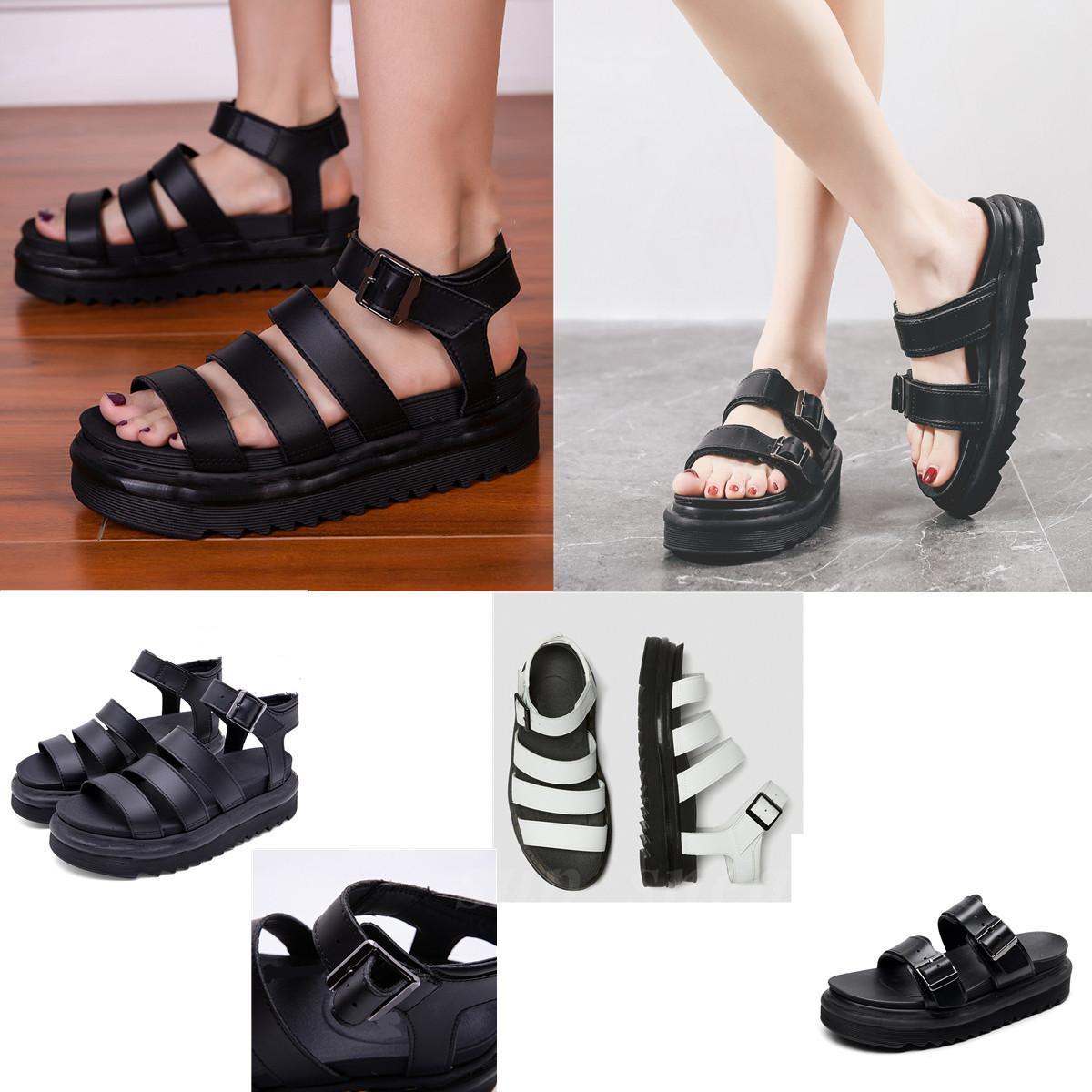 Martinz Sandalias Zapatillas Slipper Slipper Sandal Sandal Sandalia Sandalia 2021 Moda europea y americana Casual Coreano Pastel de esponja ligero
