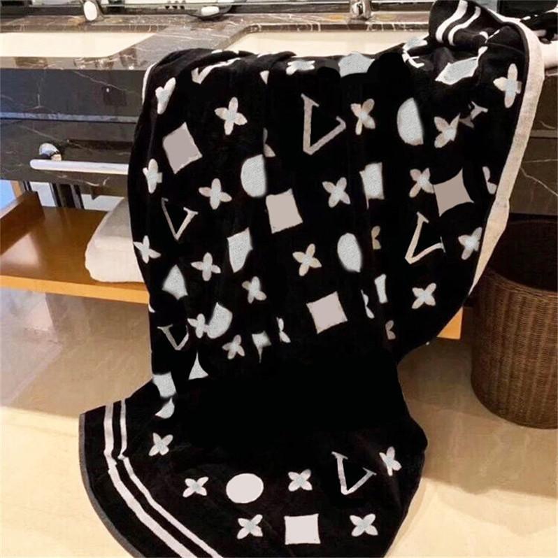Classic Double Couleur Côté Jacquard Serviettes Designer Bain Bain Serviette 100% coton 180 * 100cm Absorption d'eau épais douce grande taille pour hommes femmes